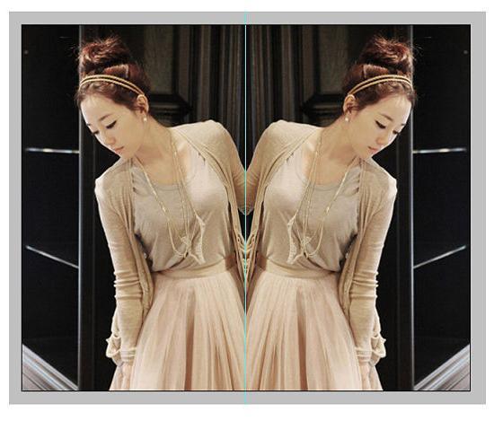 как сделать зеркальное отражение фотографии серебристый