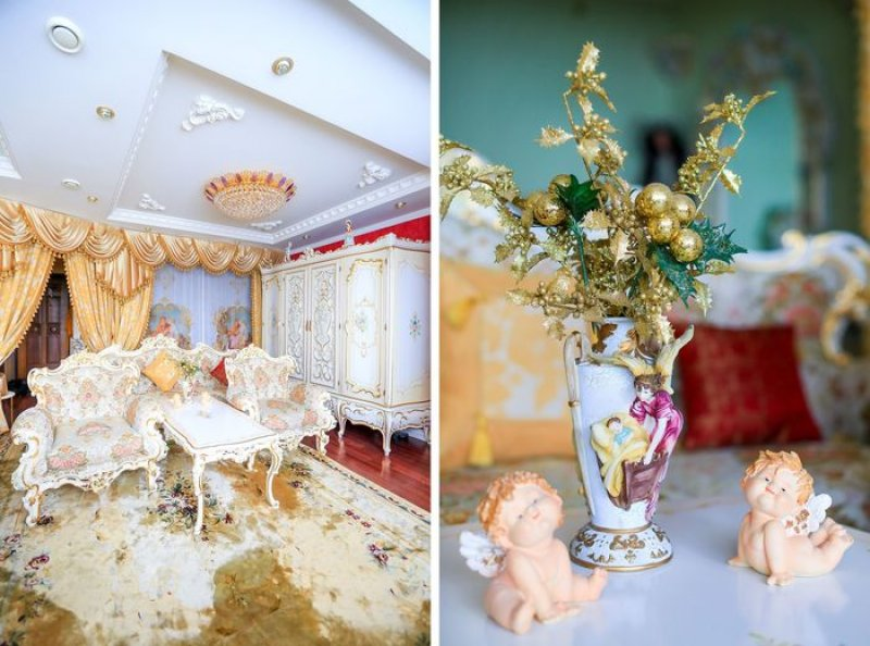 Однушка в стиле барокко: москвичка превратила обычную квартиру в королевскую обитель