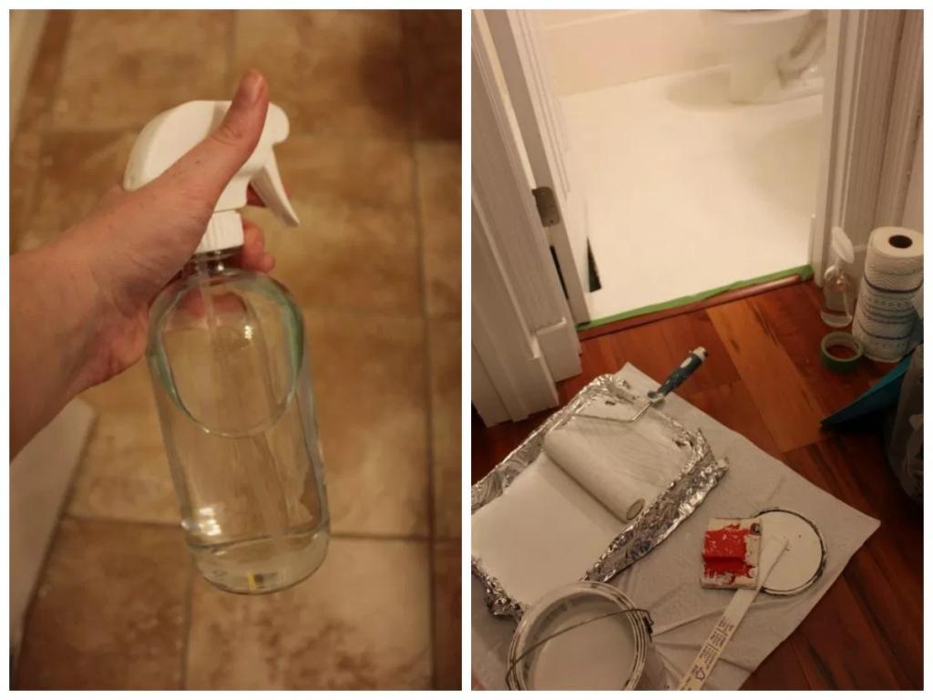 Девушка взяла обычный трафарет и покрасила старую плитку в туалете: ремонт стоил копейки