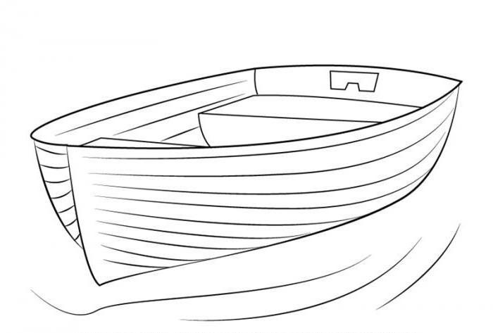 лодка картинка карандашом советские