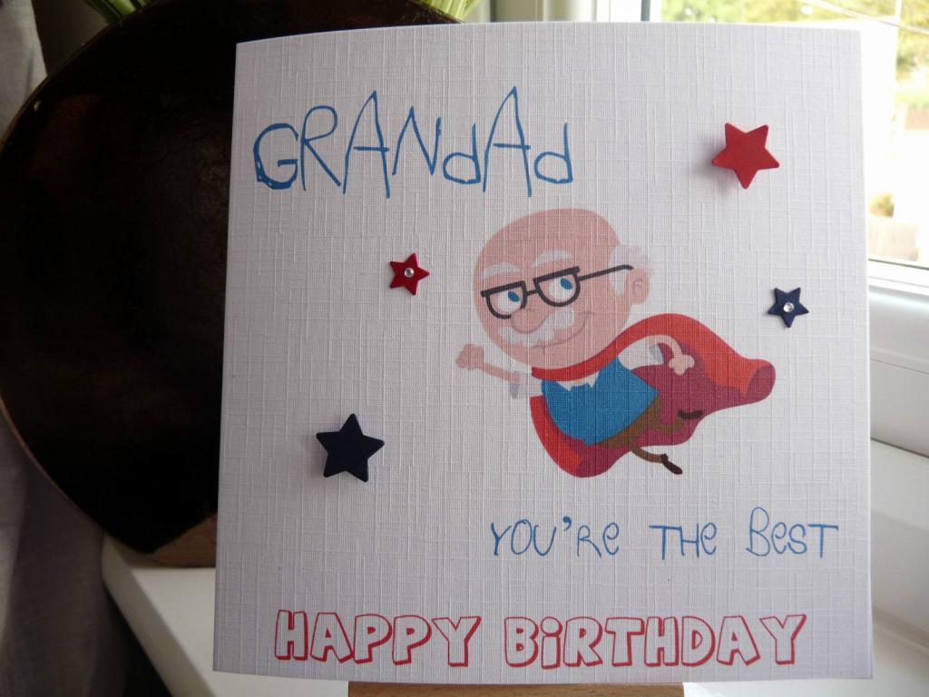 Какую нарисовать открытку на день рождения дедушке