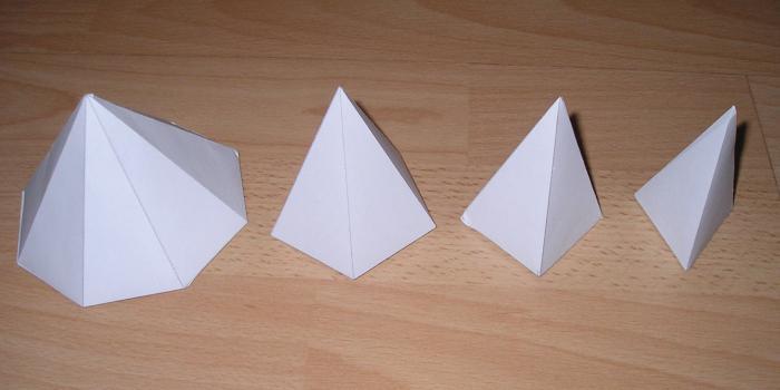 Сделать пирамиду из бумаги