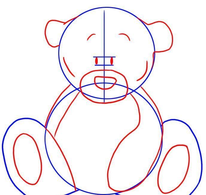 Мишка фото как его нарисовать