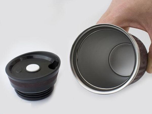 термокружка с силиконовой крышкой
