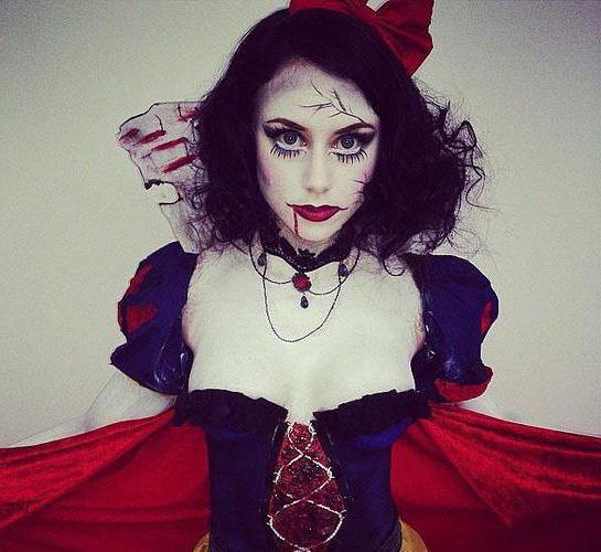 страшный образ на хэллоуин для девушки своими руками