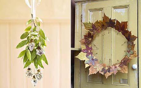 экибаны из природного материала осень