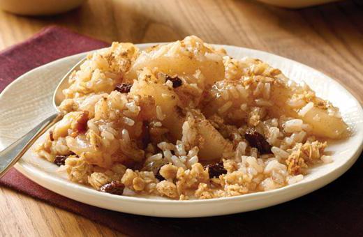 рис с яблоком