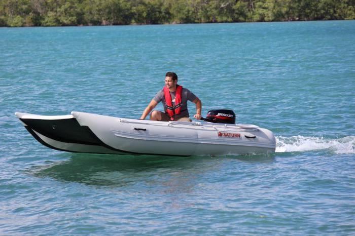 лодка катамаран с мотором
