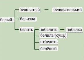 словообразовательная цепочка сложных слов