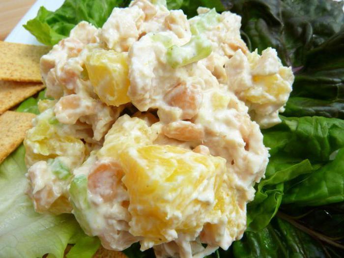 Салат женский каприз рецепт с ананасами