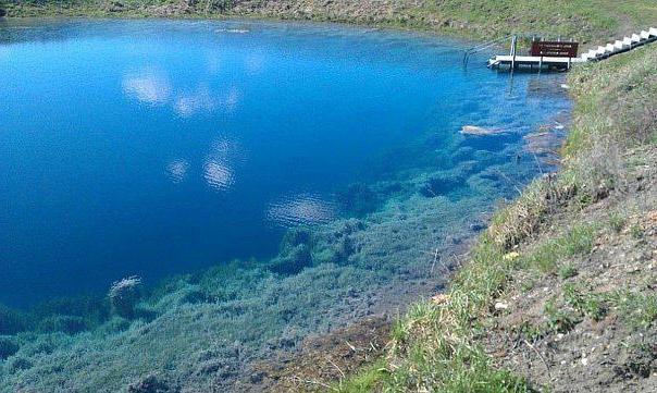 голубое озеро самарское