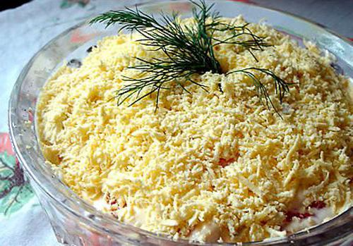 салаты с плавленным сыром рецепты с фото
