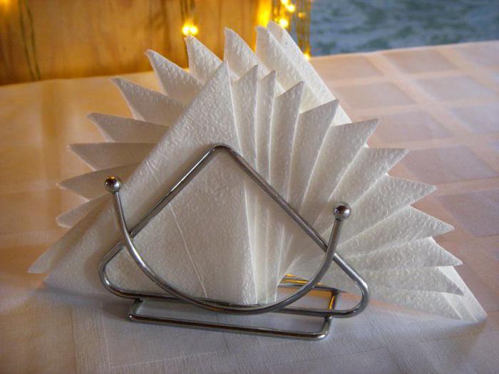 как красиво сложить салфетки бумажные в салфетницу