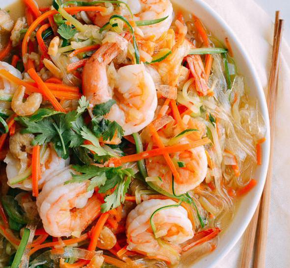 Салаты с креветками и фунчозой рецепты простые и вкусные