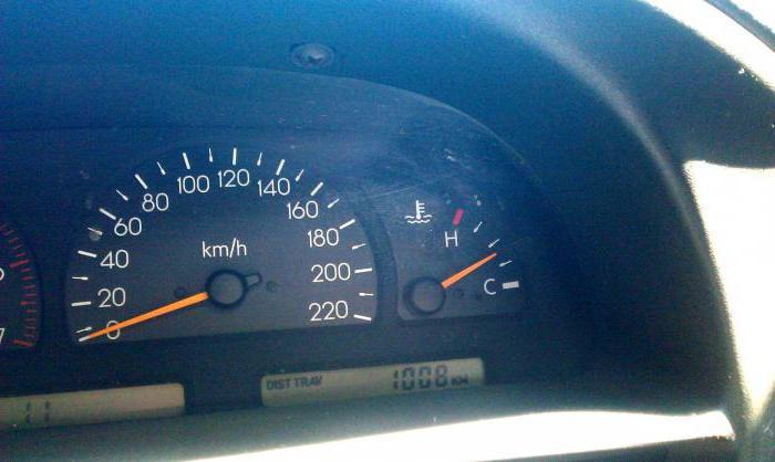 падает температура двигателя при движении