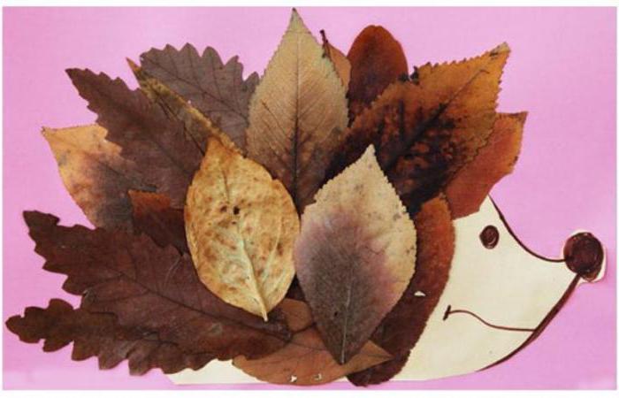 панно из осенних листьев фото
