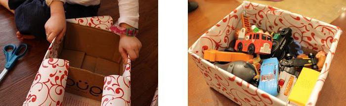 ящик для игрушек своими руками из коробки
