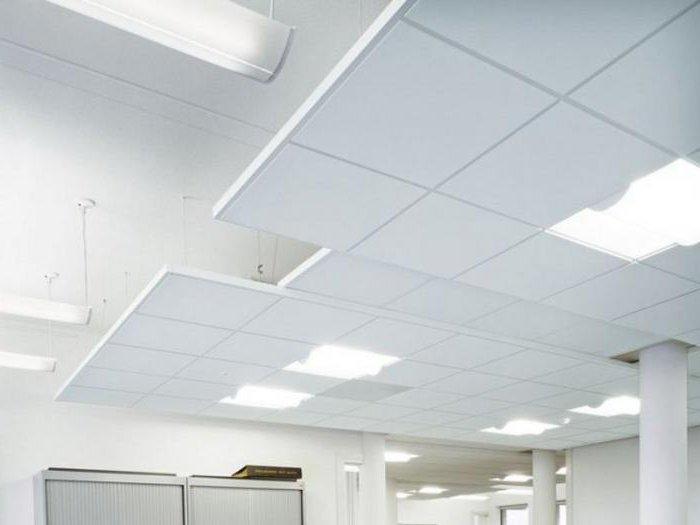 офисные светодиодные светильники типа армстронг
