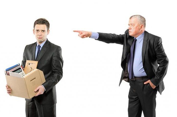 дисциплинарное взыскание увольнение