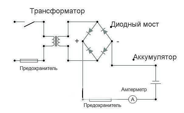 Как сделать зарядное устройства схема