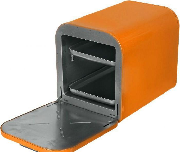 электродуховка русская печь цвет оранжевый