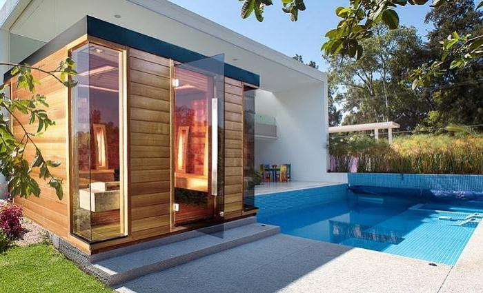 проекты бани с комнатой отдыха и террасой из бруса