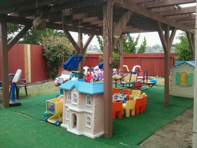 покрытие для детской площадки на даче