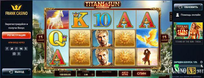франк казино мобильная