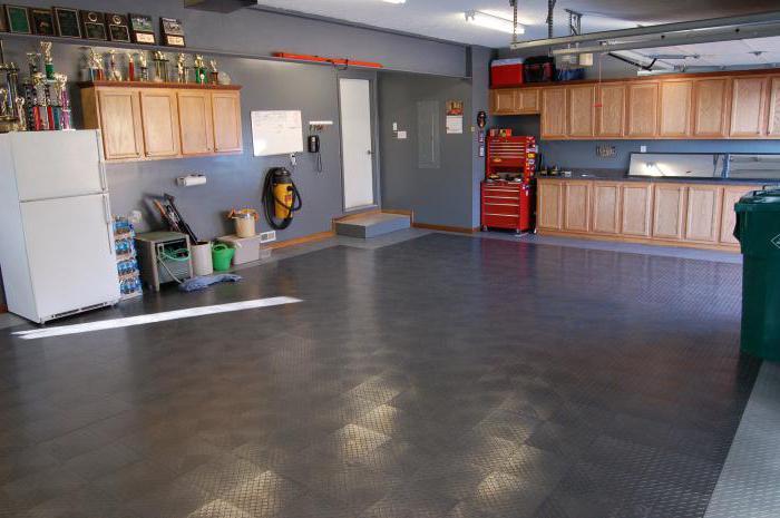 виды напольного покрытия для гаража
