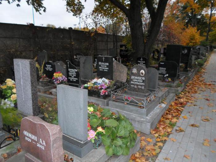 кладбище новодевичьего монастыря в санкт петербурге