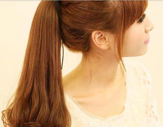 хвост из волос