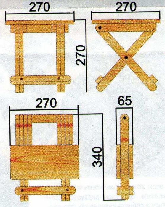 Как сделать раскладной стул своими руками чертежи
