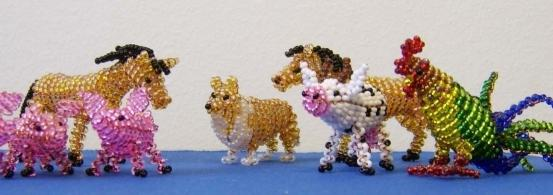 как сделать животных из бисера