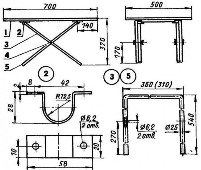 Складной стол для пикника своими руками чертежи