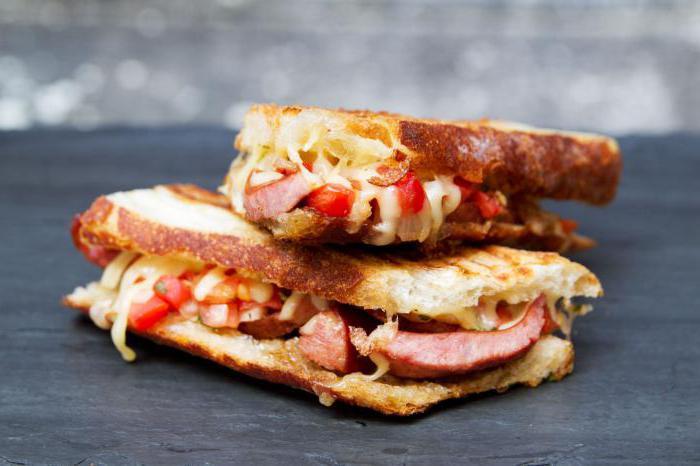 бутерброд с колбасой калорийность