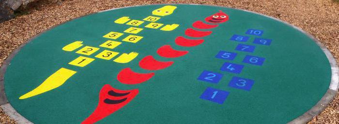 покрытие детских площадок из резиновой крошки