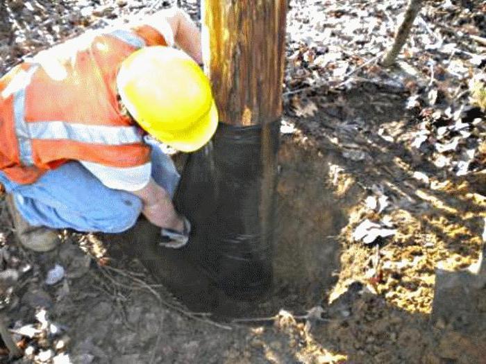ремонт деревянных опор