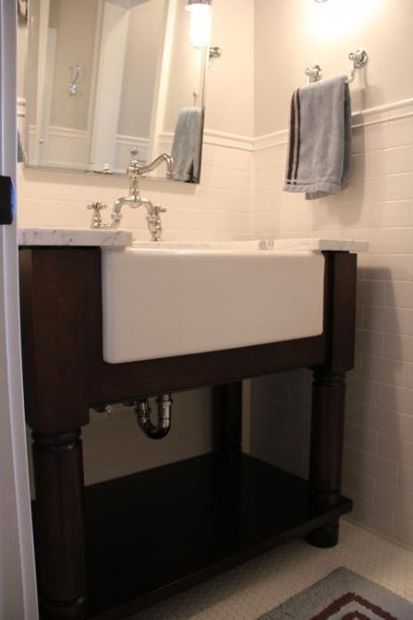 высота раковины в ванной стандарт фото