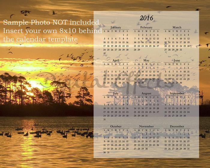 как сделать календарь в фотошопе