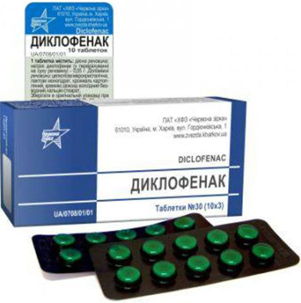 Что такое диклофенак в таблетках