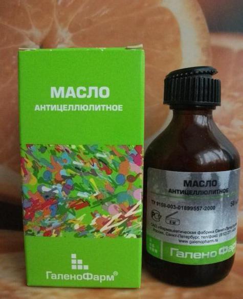 галенофарм антицеллюлитное масло отзывы