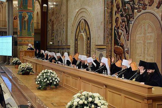 Участники Архиерейского собора