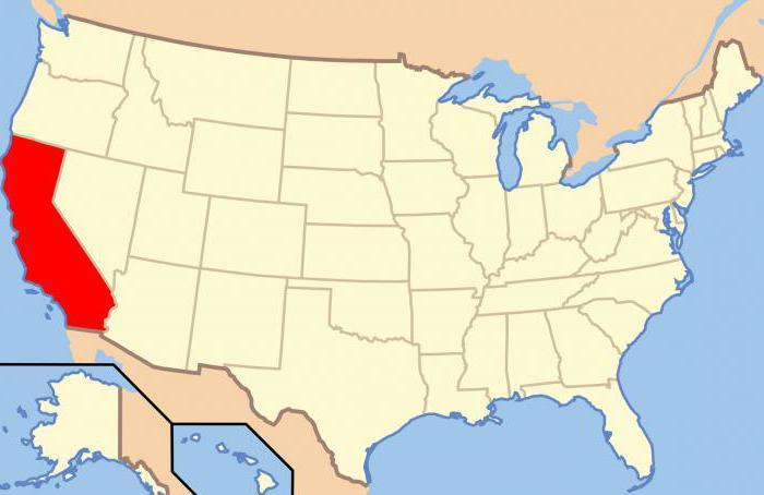 где находится Калифорния