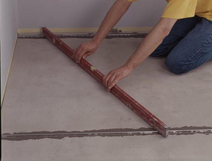 чем можно выровнять бетонный пол