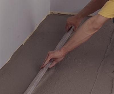 лучше выровнять бетонный пол