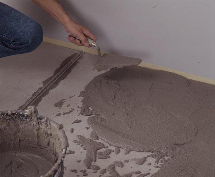 выравнивающая смесь для бетонного пола