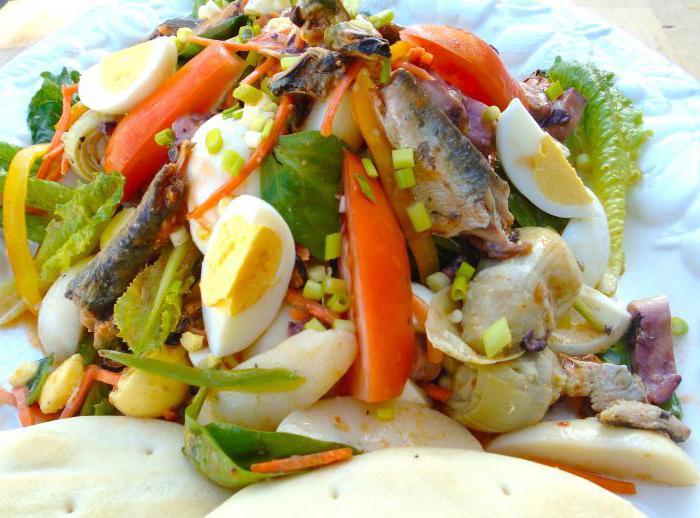 Как сделать салат из консервы сардины