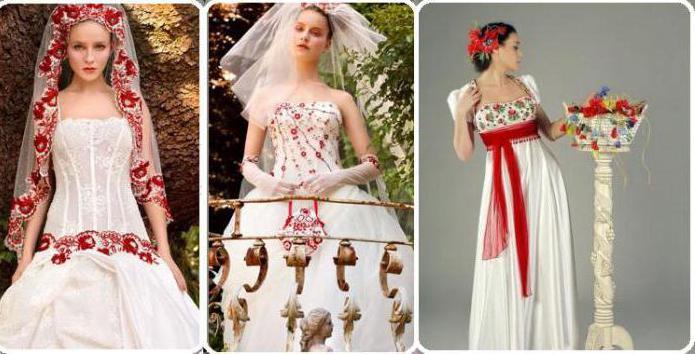 свадебные платья в русском стиле современные