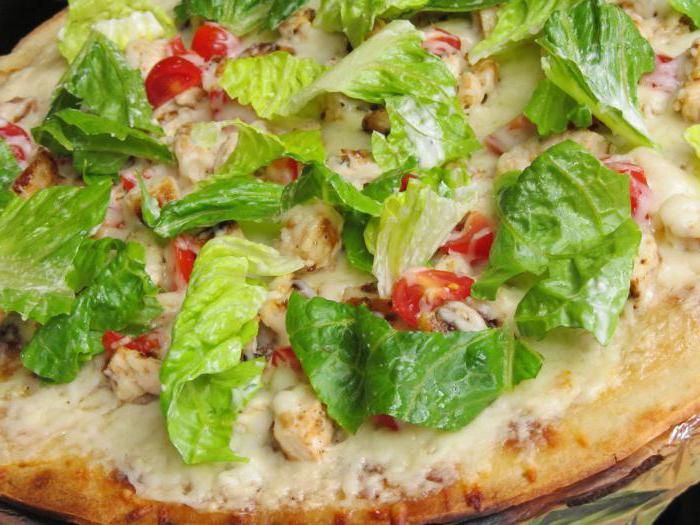Пицца цезарь рецепт в домашних условиях в духовке пошаговый рецепт
