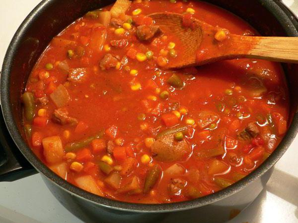сколько калорий в овощном рагу с курицей в мультиварке